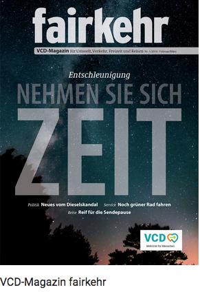 Fairkehr Magazin des Verkehrsclub Deutschland (VCD)